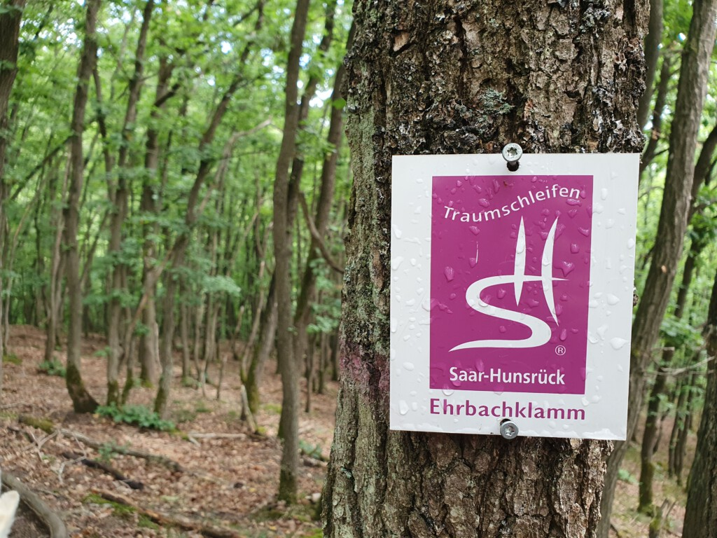 Wegmarkierung Traumschleife Ehrbachklamm