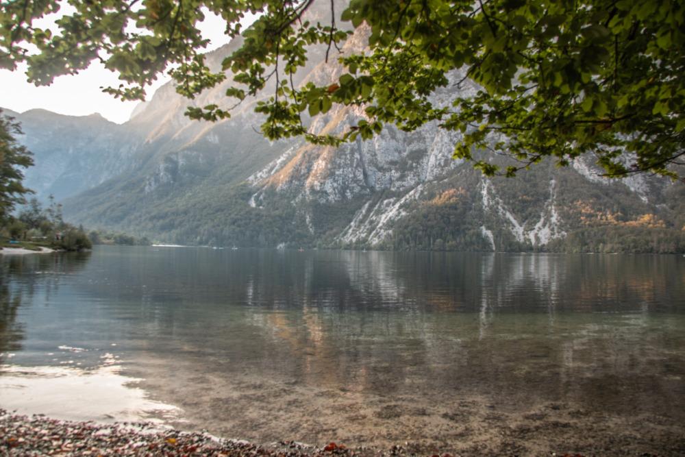 Bohinj See in Slowenien - Roadtrip mit Hund