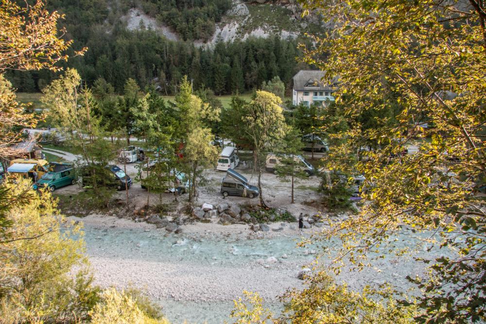 Campingplatz Trenta im Soča-Tal